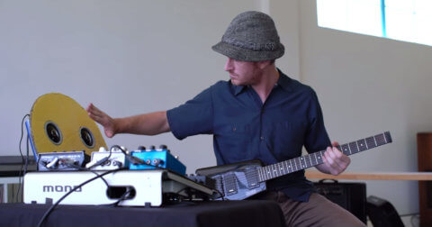 Nick Reinhart demonstrates Meris pedals on MONO board