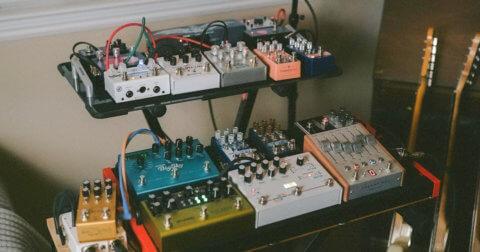 MONO pedalboards in a studio