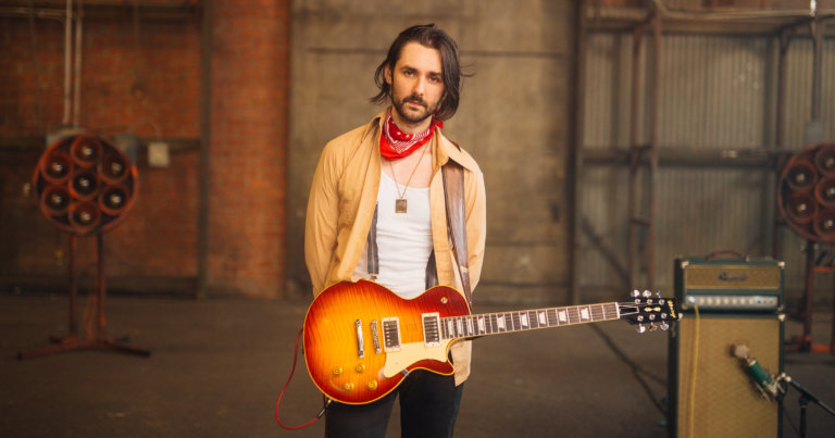 Zane Carney with a Heritage H-150 Custom Core Electric Guitar